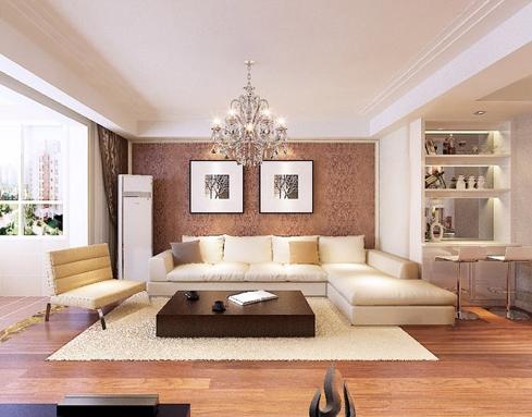 贝壳粉涂料欧式客厅