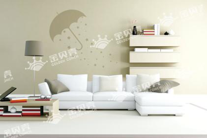 贝壳粉3种清新背景墙效果
